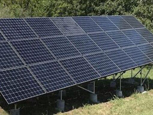 Ground Mount SunPower Solar Array in Adrian, Missouri