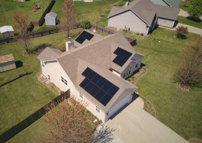 7.035kW SunPower Residential Solar Installation in Baldwin, Kansas