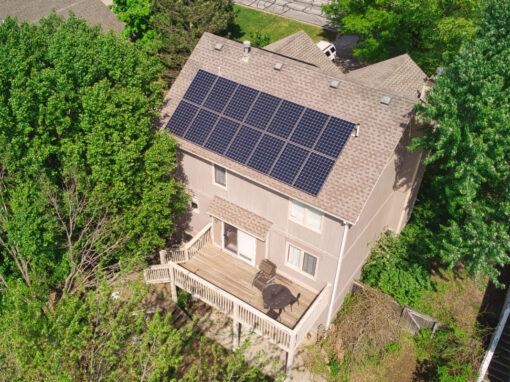 5.886 kW Residential SunPower Solar Installation in Lawrence, Kansas